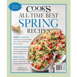 Cook's Illustrated All-Time Best Spring Recipes Special Issue