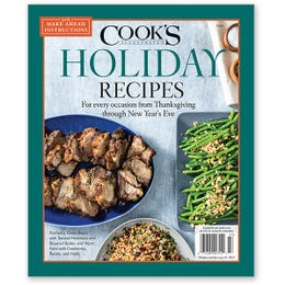 Cook's Illustrated Make-Ahead Holiday Recipes Special Issue