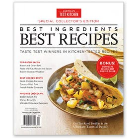 America's Test Kitchen Best Ingredients, Best Recipes Special Issue 2015